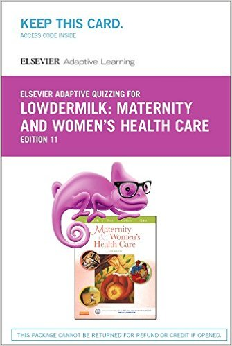 Elsevier Adaptive Quizzing for Lowdermilk Maternity and Women's Health Care (Retail Access Card)