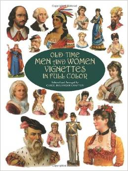 Old-Time Men and Women Vignettes in Full Color