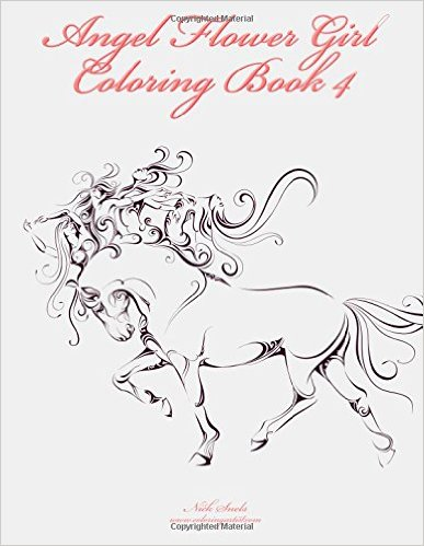 Angel Flower Girl Coloring Book 4: Angels, Demons, Fairies, Cat Girls and Other Fantasy Women's Bodies